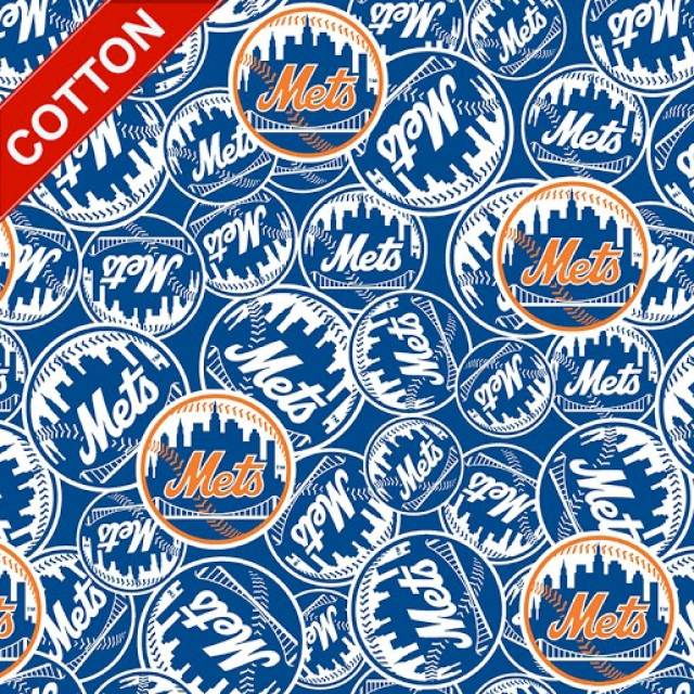 New York Mets MLB Cotton Fabric