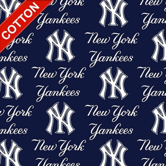New York Yankees Allover MLB Cotton Fabric