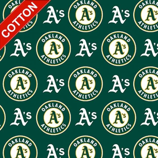 Oakland Athletics MLB Cotton Fabric