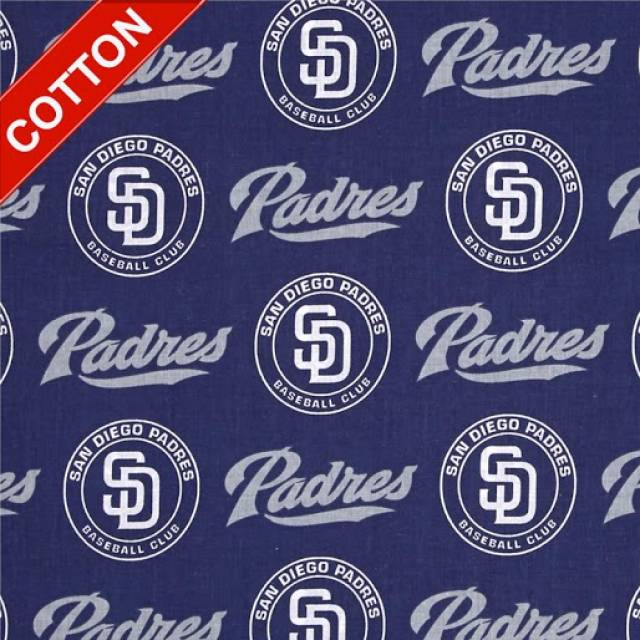 San Diego Padres Allovers MLB Cotton Fabric