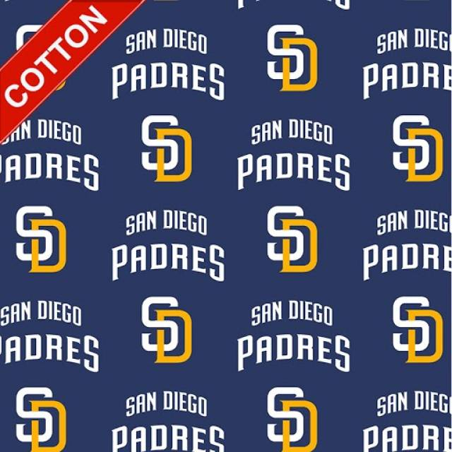 San Diego Padres Tossed MLB Cotton Fabric