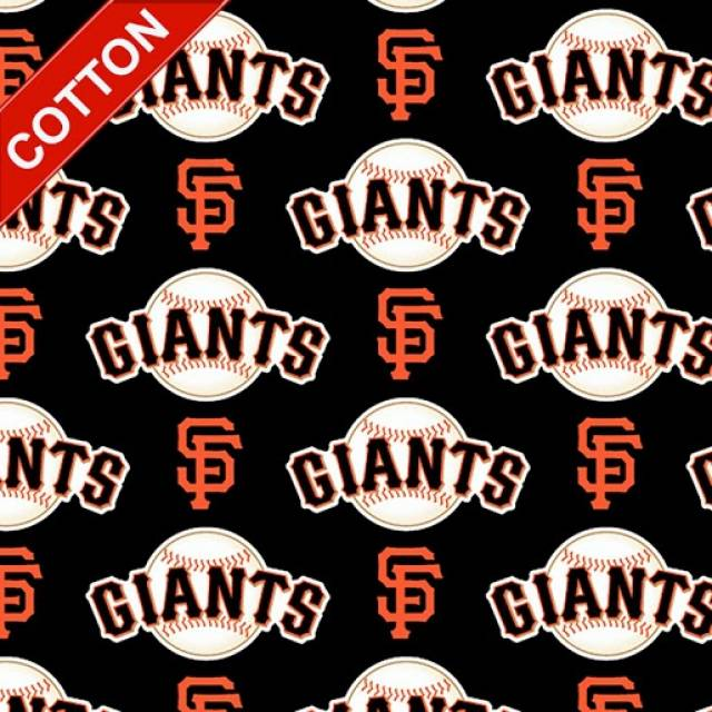 San Francisco Giants Allovers MLB Cotton Fabric