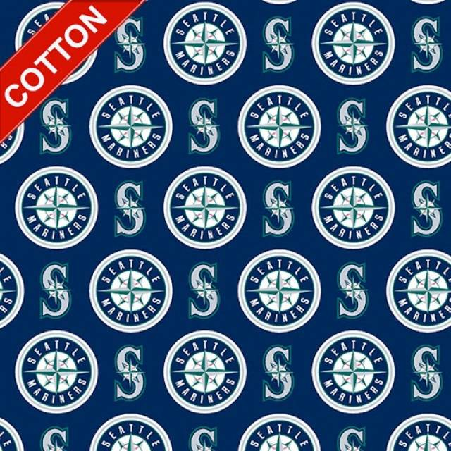 Seattle Mariners MLB Cotton Fabric
