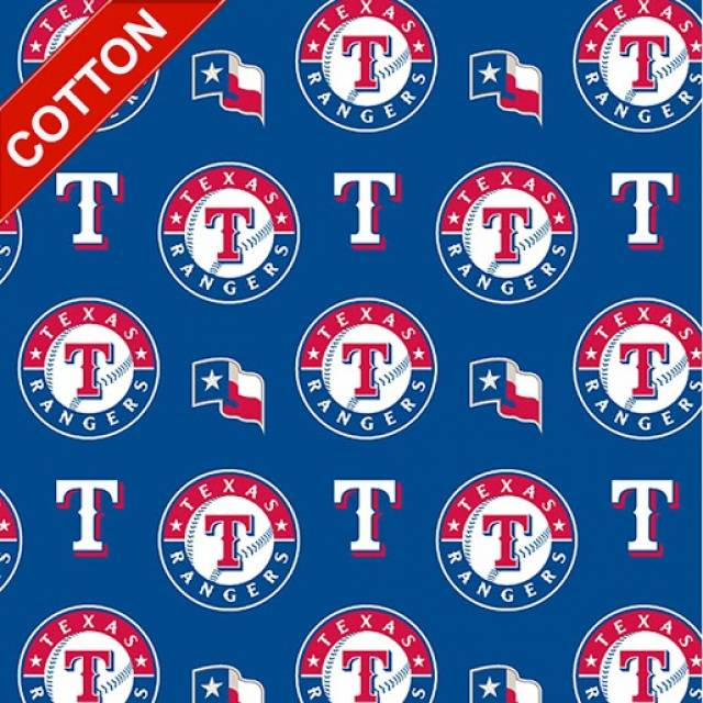 Texas Rangers MLB Cotton Fabric