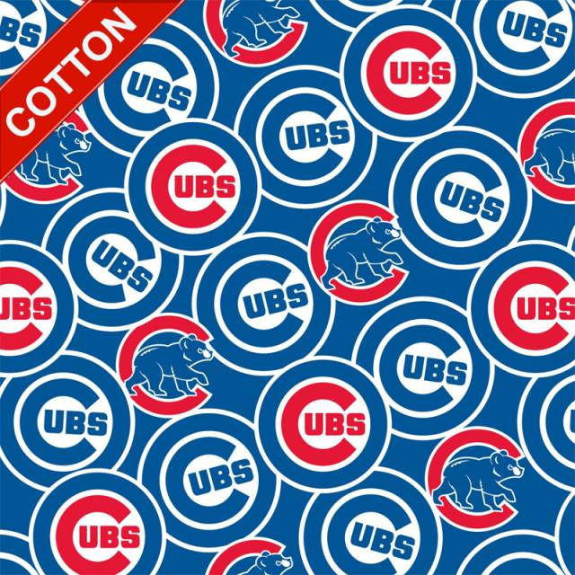 Chicago Cubs Allover MLB Cotton Fabric