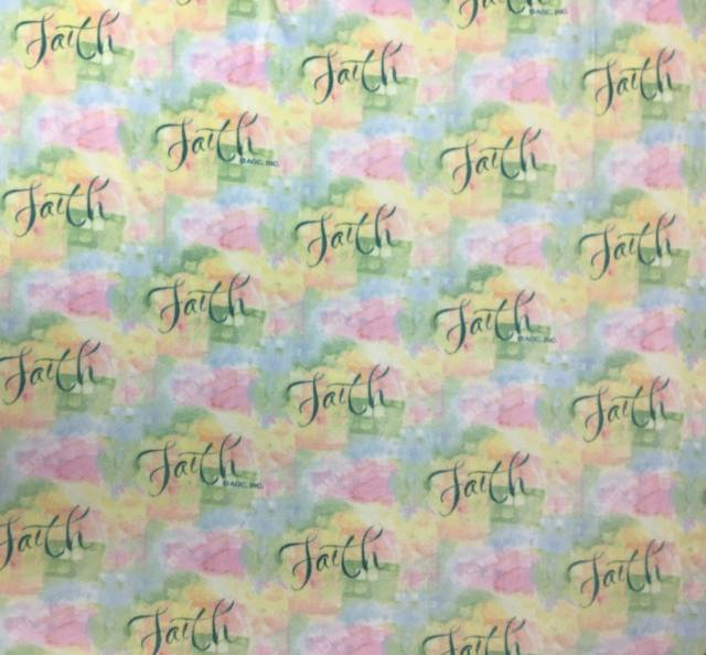 Inspirational Faith Fleece Fabric