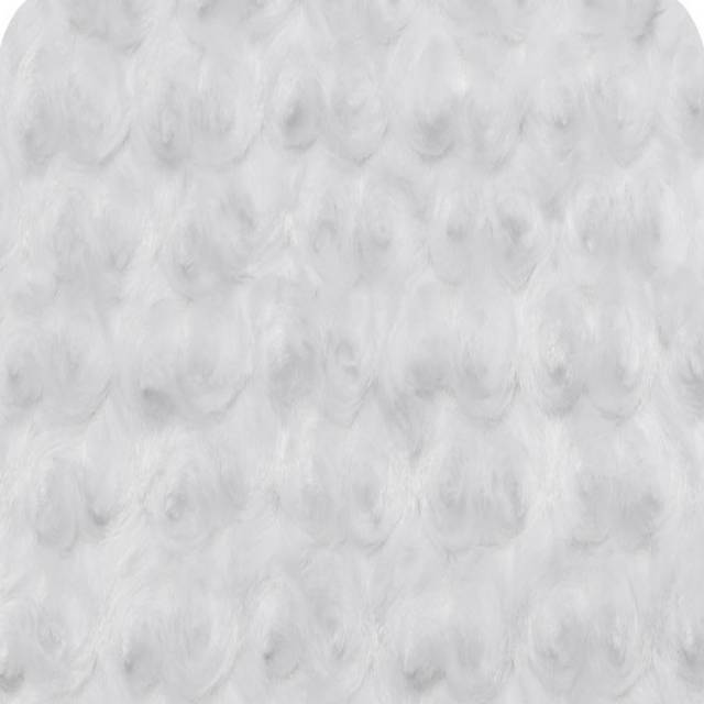 White Minky Rose Cuddle Fabric
