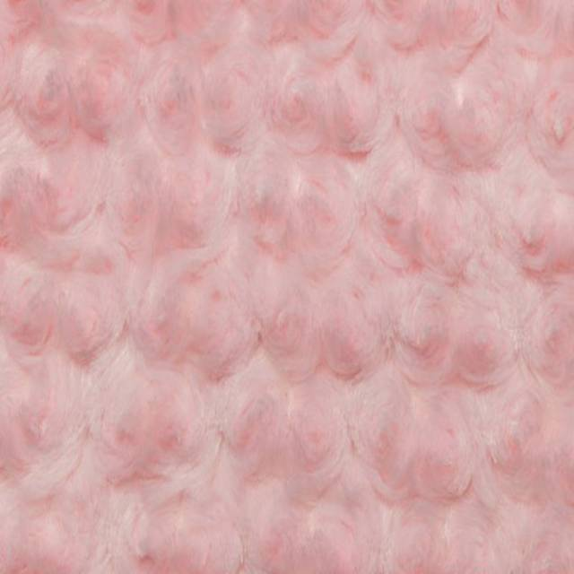 Baby Pink Minky Rose Cuddle Fabric