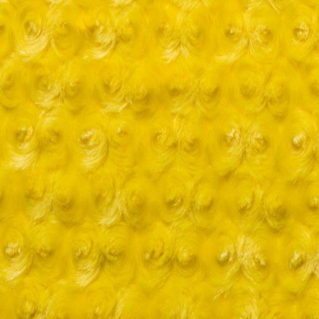 Canary Minky Rose Cuddle Fabric