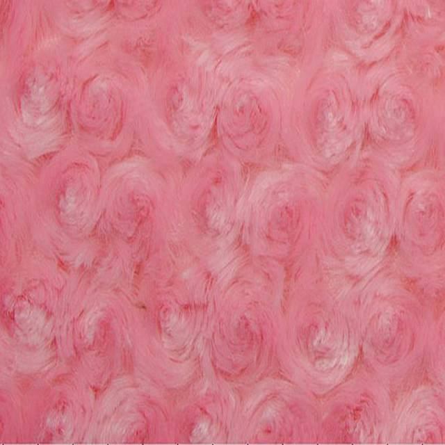 Paris Pink Minky Rose Cuddle Fabric