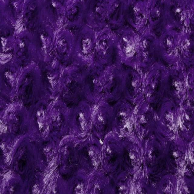 Purple Minky Rose Cuddle Fabric
