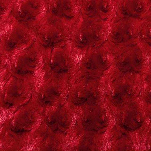 Red Minky Rose Cuddle Fabric