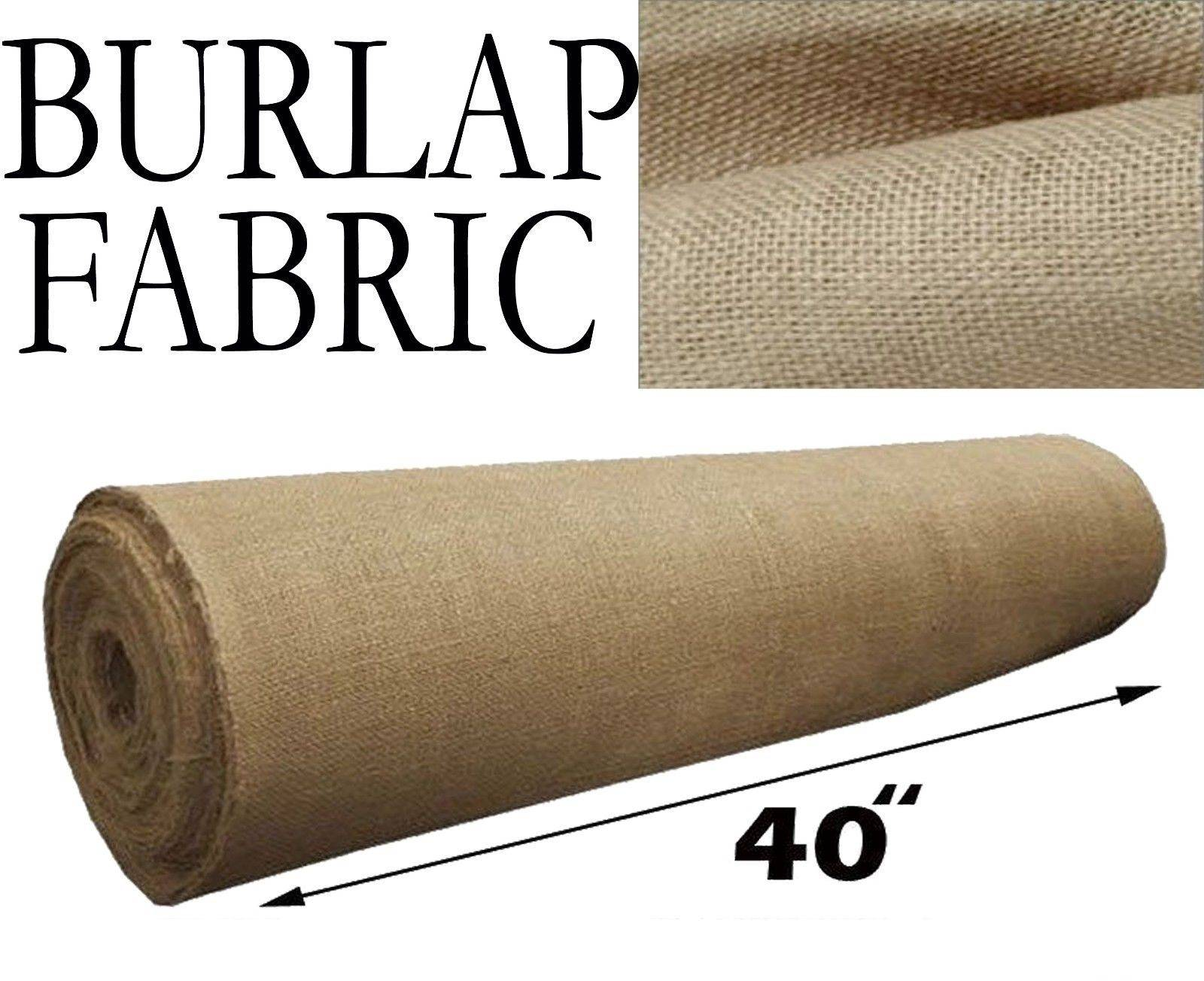 Burlap Fabric  Natural 40 Inches Wide