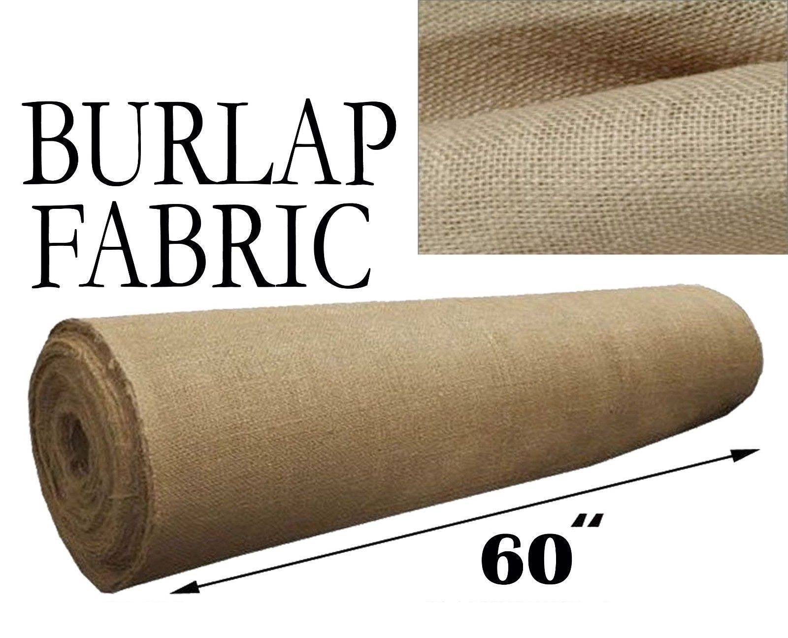 Burlap Fabric  Natural 60 Inches Wide