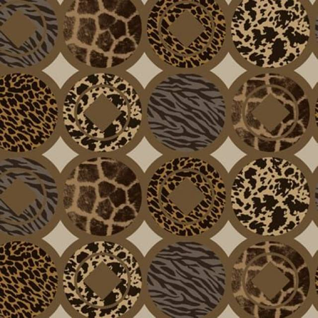 Wild Safari Animal Skins Fleece Fabric