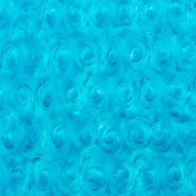 Turquoise Minky Rose Cuddle Fabric