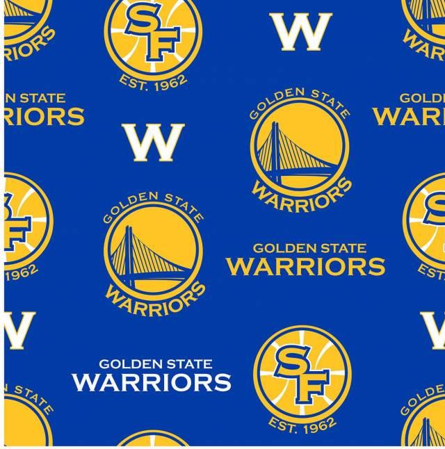 Golden State Warriors Blue Fleece Fabric