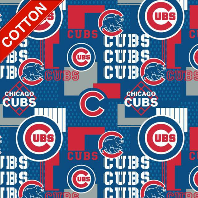 Chicago Cubs Packed MLB Cotton Fabric