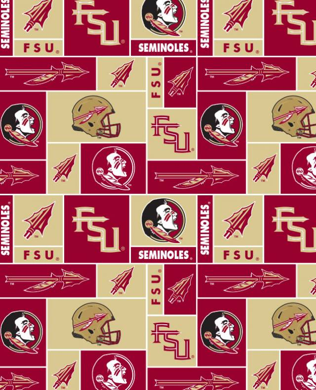 Florida State University Seminoles Fleece Fabric