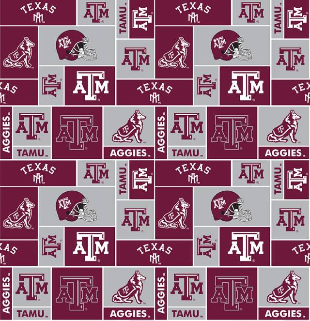 Texas A&M University Aggies Fleece Fabric