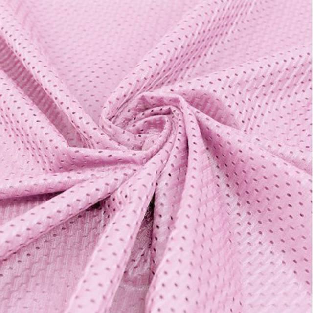 31ddd480ed0 Baby Pink Football Mesh Jersey Fabric - Athletic Sports Mesh Fabrics ...