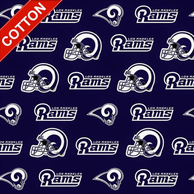 Los Angeles Rams Navy NFL Cotton Fabric