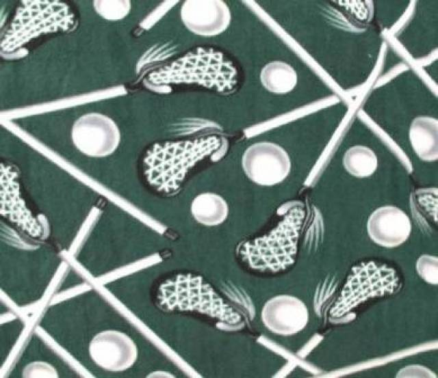 LaCrosse Hunter Green Fleece Fabric