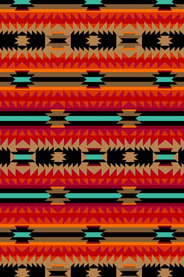 Crimson Arrow Native American Fleece Fabric