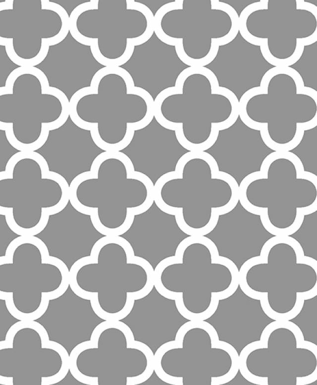 Quatrefoil Silver Allover Fleece Fabric