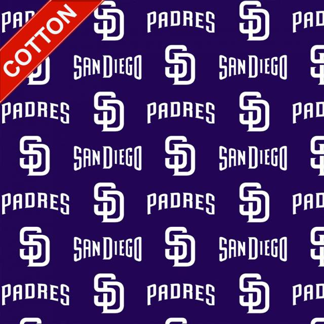 San Diego Padres MLB Cotton Fabric
