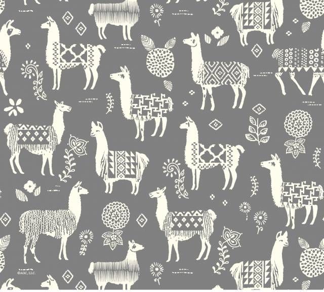 Peruvian Llamas Allover Fleece Fabric