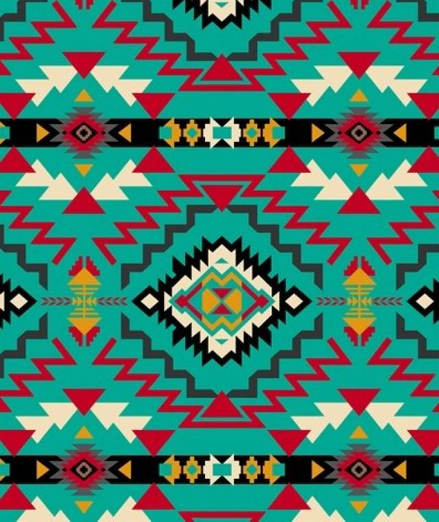 Southwest Geometric Native American Fleece Fabric