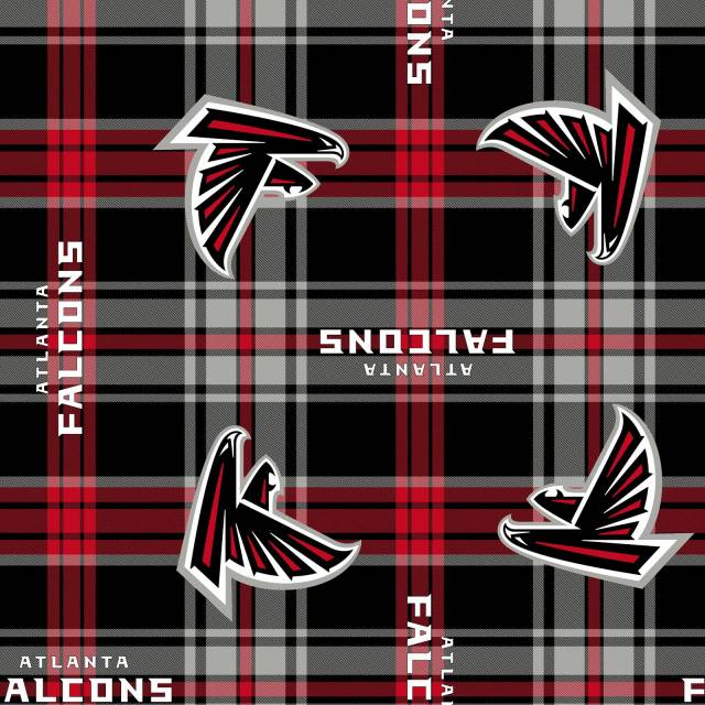 Atlanta Falcons Plaids NFL Fleece Fabric