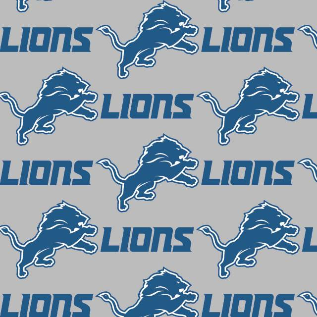 Detroit Lions Allover NFL Fleece Fabric