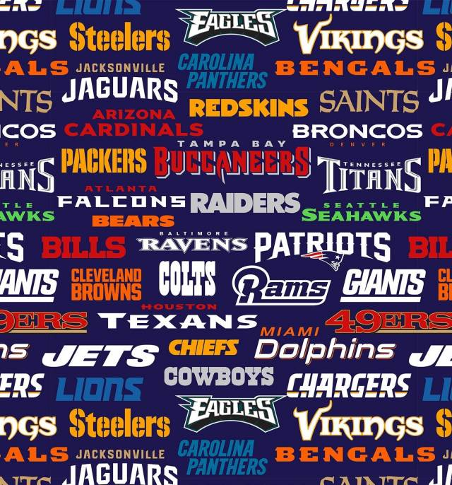 NFL All Teams Allover Fleece Fabric