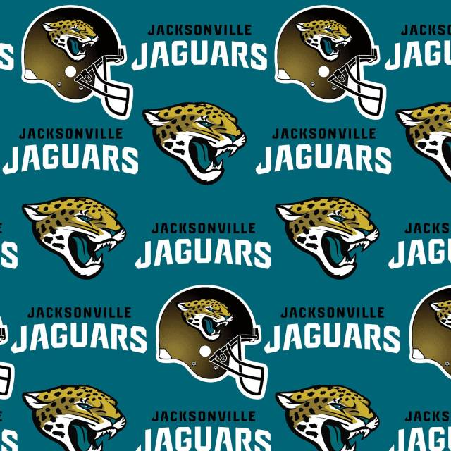 Jacksonville Jaguars NFL Fleece Fabric