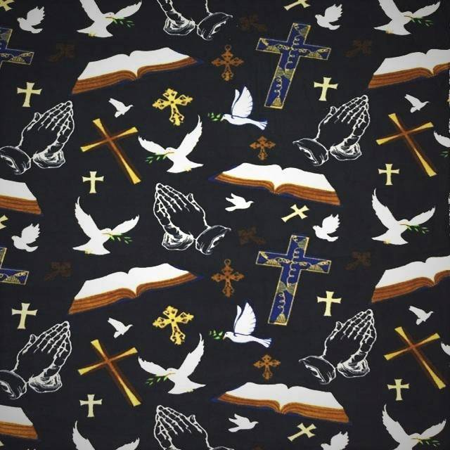 Christian Prayer Bible Fleece Fabric