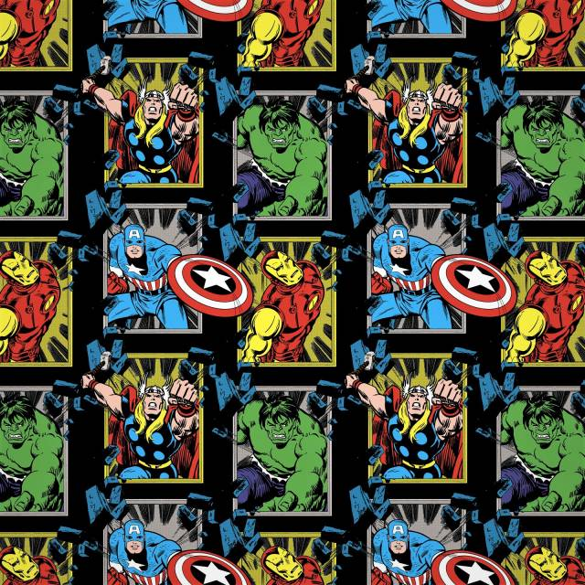 Marvel Comics Super Heros Fleece Fabric