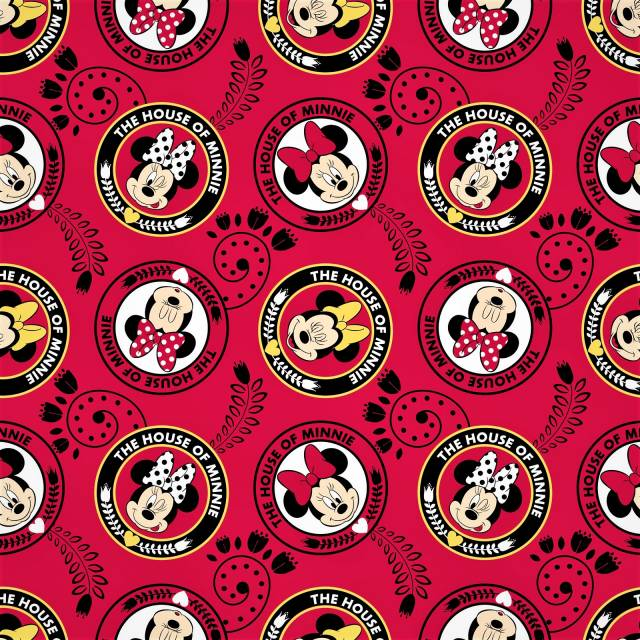 Disney Minnie Mouse House Fleece Fabric