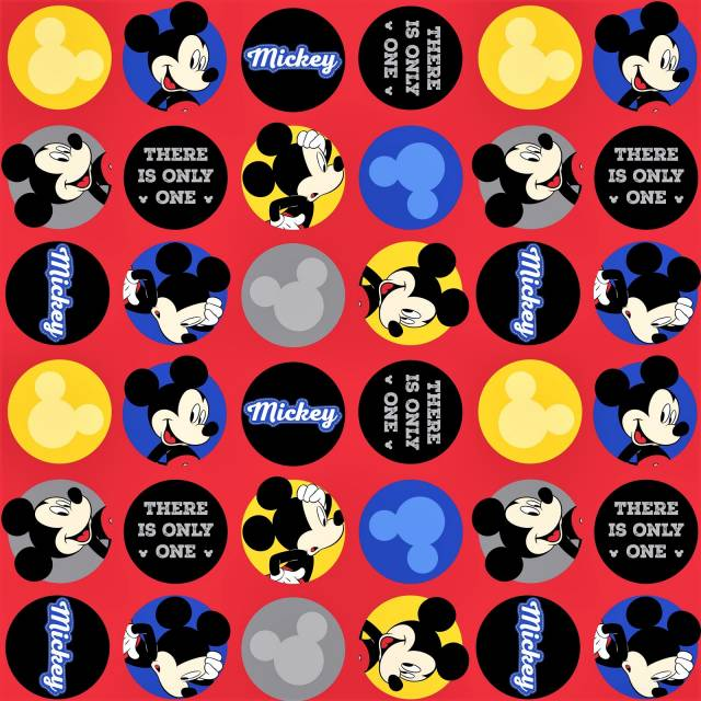 Disney Mickey Mouse Allover Fleece Fabric