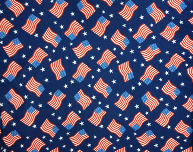 American Pride USA Flag Fleece Fabric