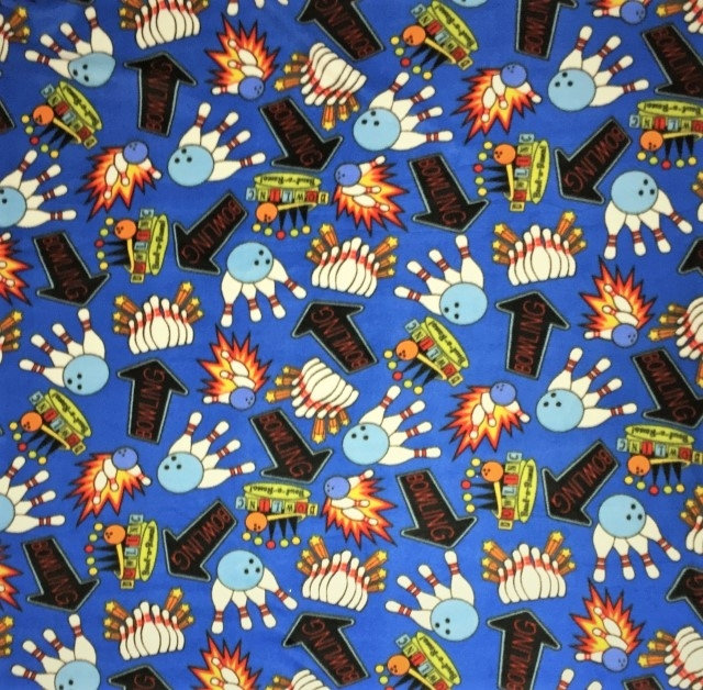 Bowling Games Fleece Fabric