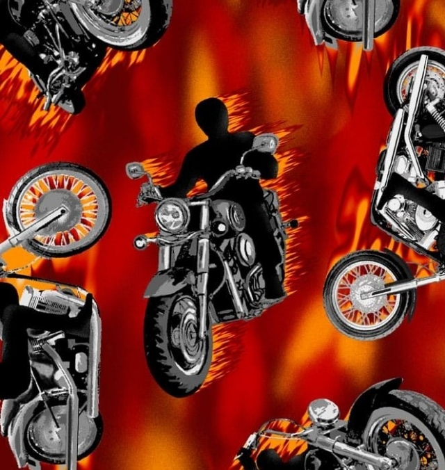 Motorcycle Fleece Fabric