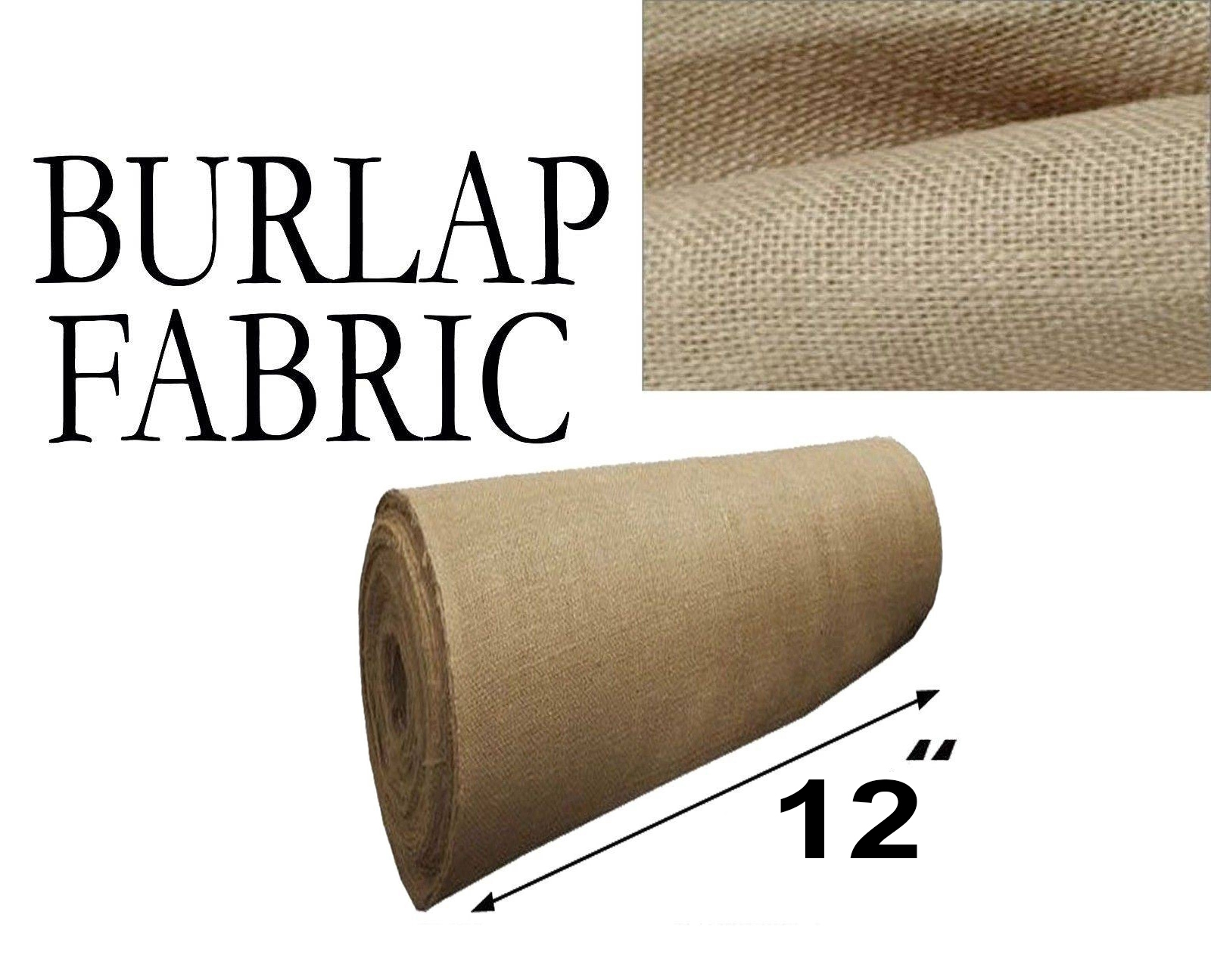 Burlap Fabric  Natural 12 Inches Wide