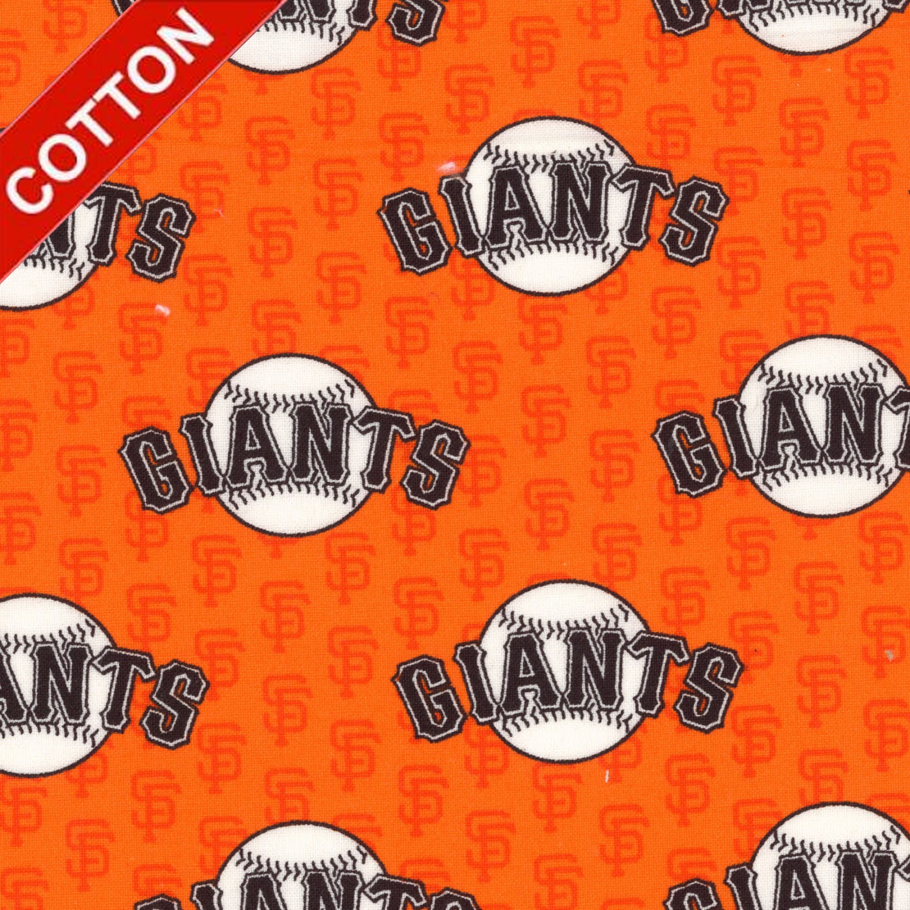 San Francisco Giants MLB Cotton Fabric