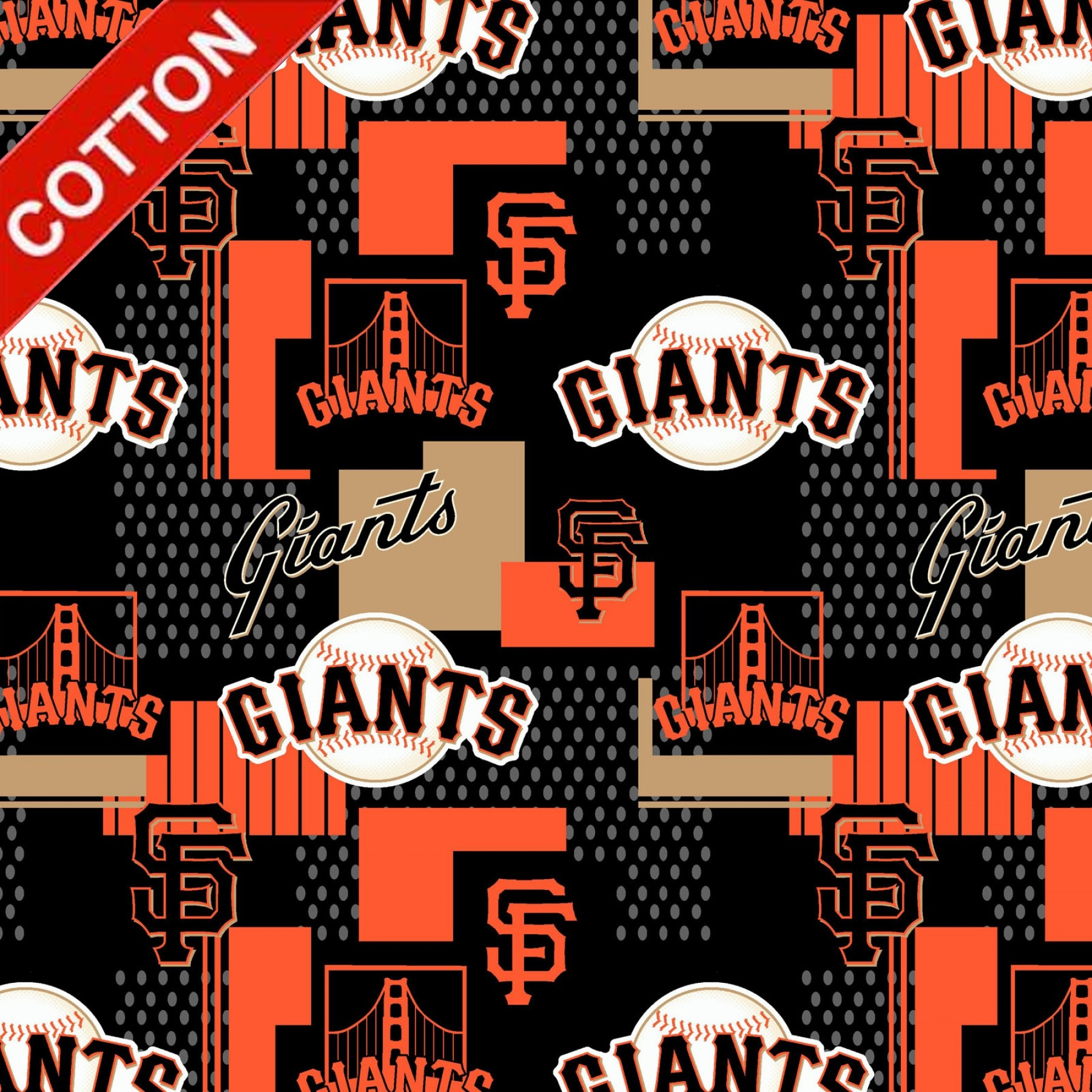 San Francisco Giants Digital MLB Cotton Fabric