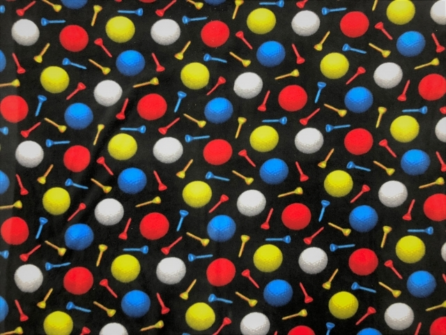 Golf Balls Allover Fleece Fabric