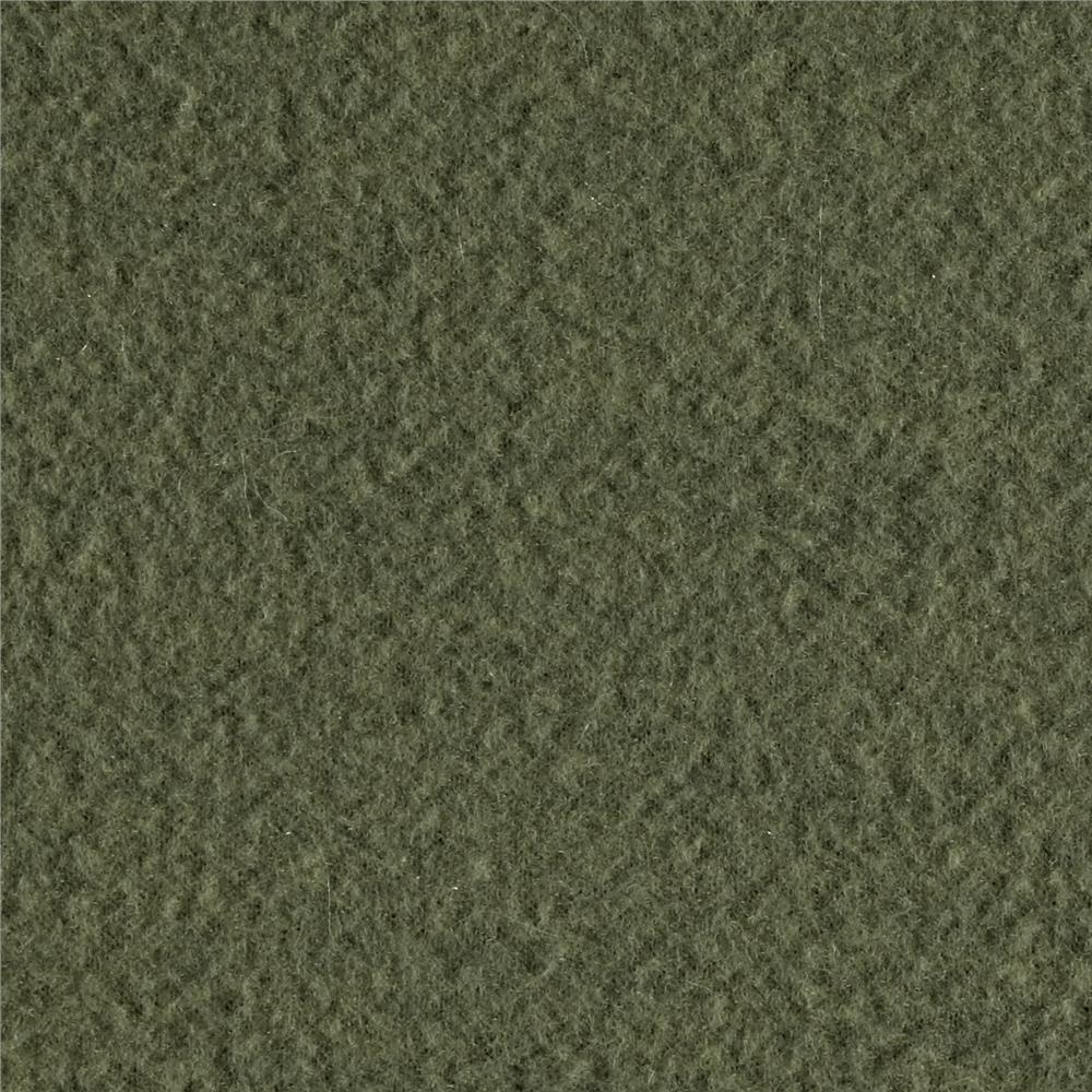 Olive Solid Fleece Fabric