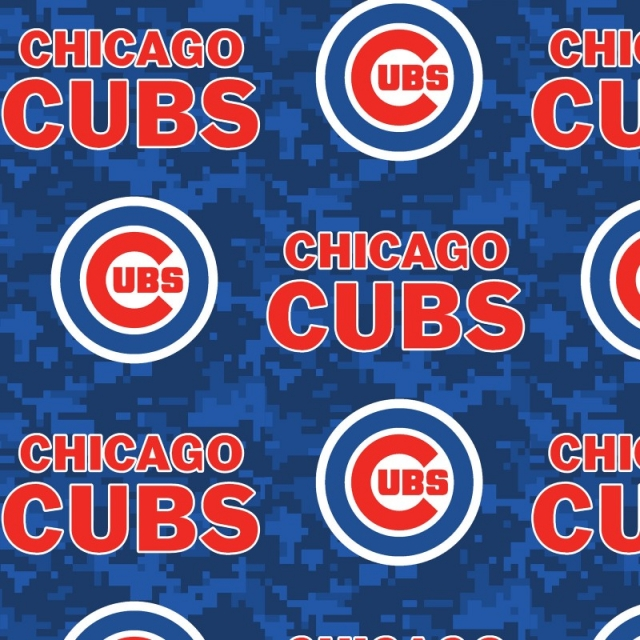 Chicago Cubs Digital MLB Fleece Fabric