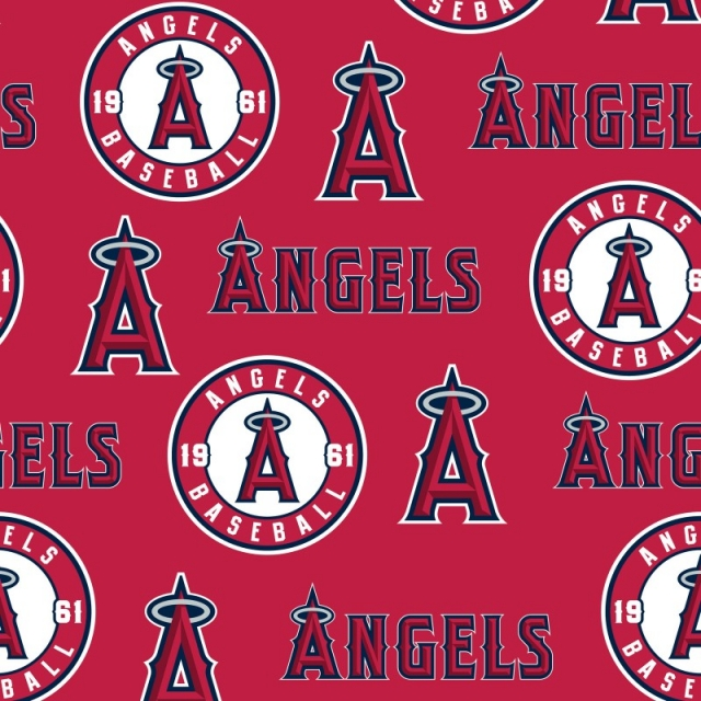 Los Angeles Angels of Anaheim MLB Fleece Fabric